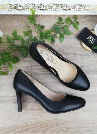 🌿37🌿европа🇪🇺 esmara. кожа. базовые туфли лодочки