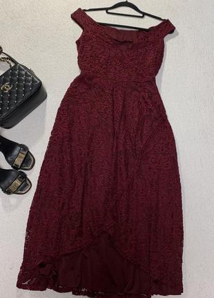 Стильное ажурное платье,размер м