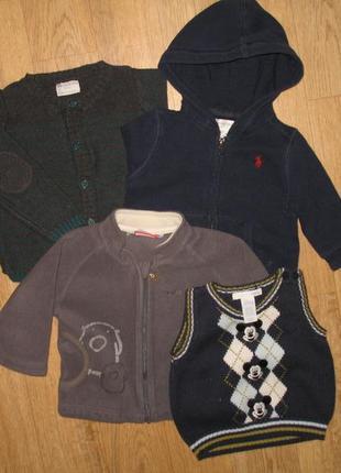 Лот № 11/модные кофты/ пакет одежды от 2 до 12 месяцев