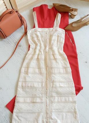 Платье из хлопка.