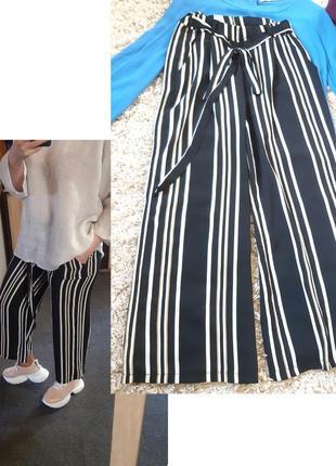 Стильные полосатые штаны/кюлоты, zebra,  p. 34-38