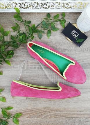 🌿37🌿европа🇪🇺 accessorize. замша. красивые туфли на низком ходу, балетки