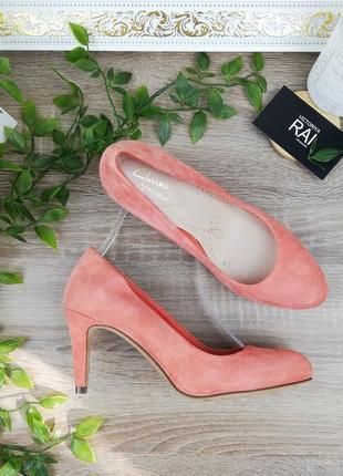 🌿37🌿европа🇪🇺 clarks. замша. красивые фирменные туфли