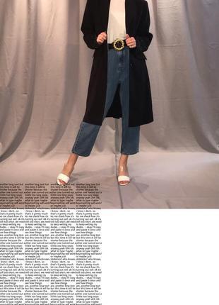 Удлинённый пиджак h&m с расшитыми рукавами
