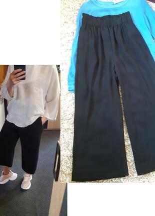Стильные черные брюки/кюлоты, h&m, p. 34-38