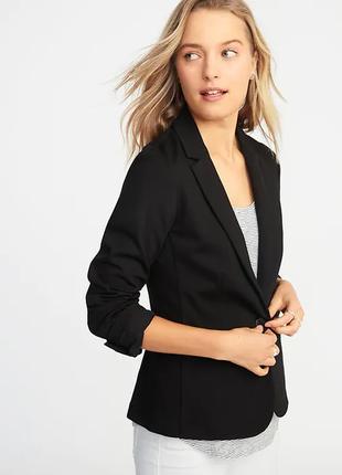 Брендовый черный пиджак жакет с карманами gap вьетнам вискоза этикетка