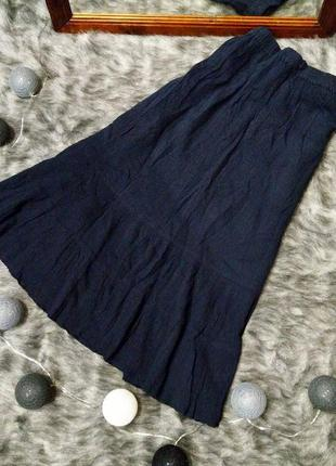 #розвантажуюсь пышная юбка длиною миди из коттона bm