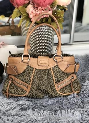 Фирменная сумка dkny кожа+текстиль