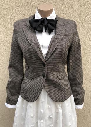 Укорочённый жакет,пиджак,блейзер,офисный,мелкая клетка,h&m