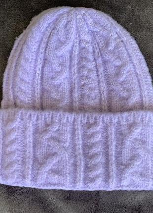 Сірєньова шапка, фіолетова.