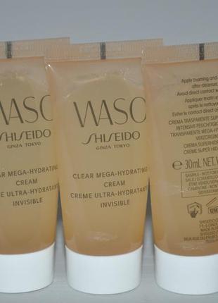 Увлажняющий крем shiseido waso clear mega-hydrating cream 30мл