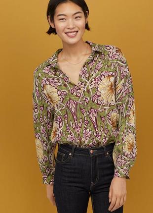 Рубашка с цветочным принтом h&m (огромный выбор пиджаков)