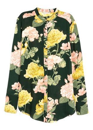 Блуза в цветочный принт h&m