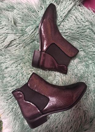 Ботинки, туфли с серебристым напылением