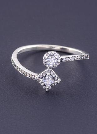 Кольцо 'style' фианит серебро(925)2 г. 0773800