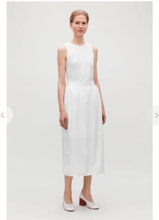 Белая миди юбка cos