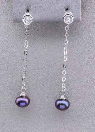 Серьги 'sunstones' жемчуг серебро 0826940