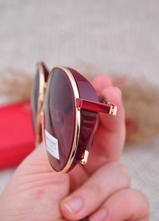 Фирменные солнцезащитные круглые очки katrin jones polarized с боковой шорой