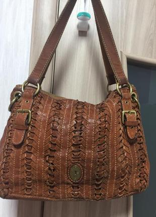 Кожаная сумка fossil