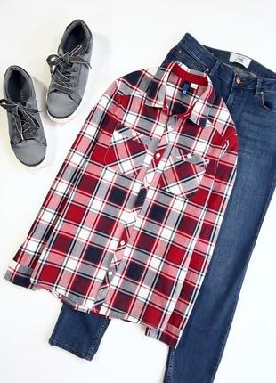 Рубашка в красно/синюю клетку от н&м