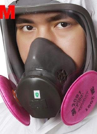 9в1 маска полнолицевая 3m 6800 + фильтра usa респиратор противогаз covid -19