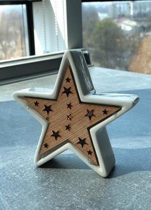Декор звёздочка светящейся