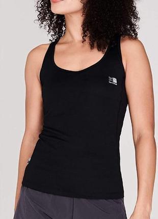 6-8 karrimor черная спортивная майка для тренировок фитнеса с топом внутри