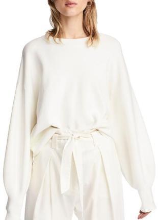 Свободный джемпер, свитер, кофта с рукавами - баллонами и манжетами  #розвантажуюсь