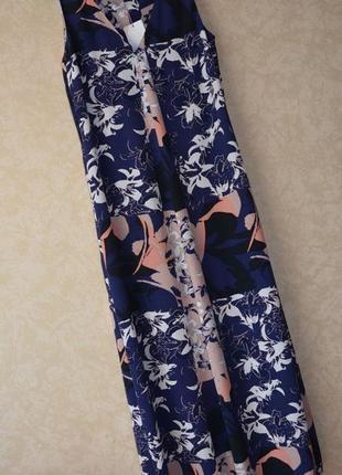 Длинное платье в принт/сарафан  marks & spenser