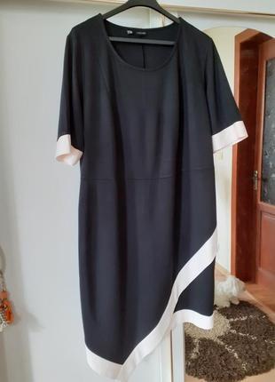Шикарное стильное асимметричное платье большого размера