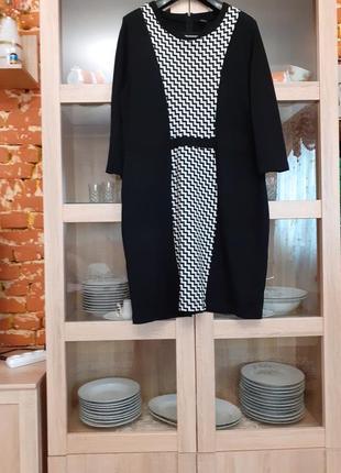 Очень эффектное комбинированное платье большого размера