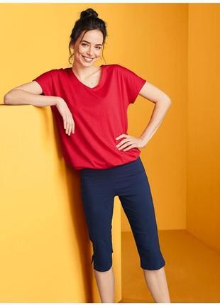 Женский топ красная футболка tcm tchibo германия