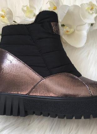 Новые ботинки весна, новые сникерсы металик, кросовки на платформе 36