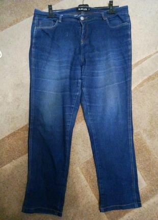 Джинсы темно-синие большой размер 18/20 рр. пот до 56