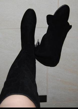 Сапоги чулки ботфорты 37 р7 фото