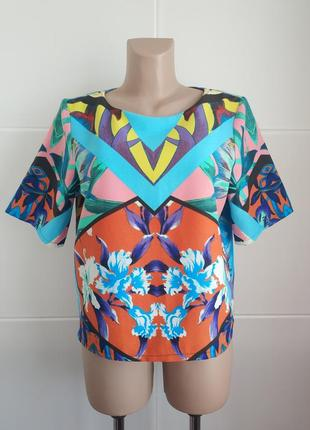 Стильная  блуза, топ  asos с ярким принтом