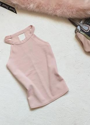 Стильная факктурная блуза топ цвет пудра от booho