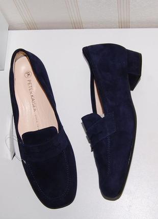 Туфли лоферы замш кожа 38 р,24.5 см