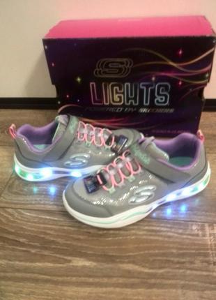 Кроссовки skechers s-lights 33,5 р