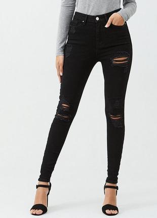 Стильные рваные джинсы скинни river island