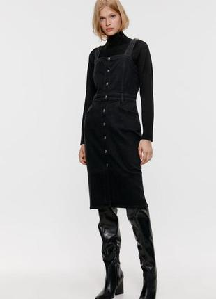 Новое джинсовое платье сарафан zara