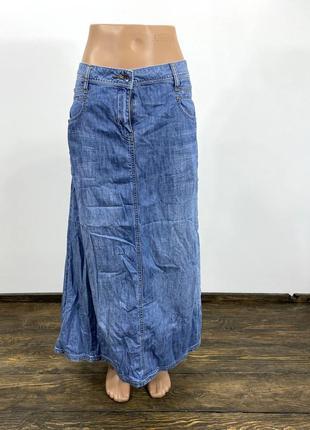 Юбка стильная джинсовая fat face, макси