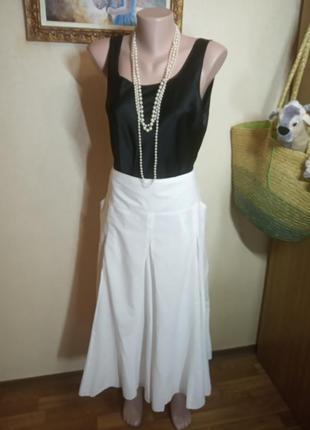 Белая юбка хлопок