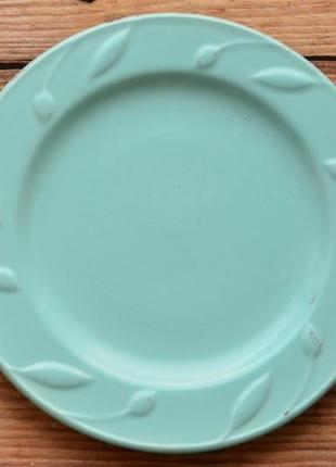 Тарелка с лепкой бирюзовая sorrento