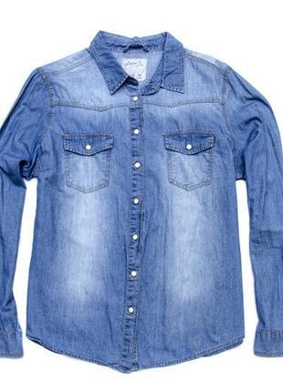 #розванатажуюсь джинсовая рубашка denim co. размер 18