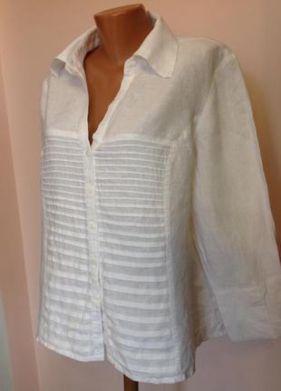 Леновая рубашка- жакет/xl/ brend tracy m