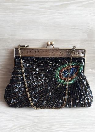 Вечерняя сумочка в пайетках