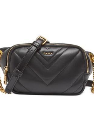 Красивая  стеганная сумка поясная от dkny