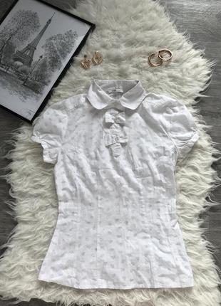 Стильная рубашка в принт сердечка очень оригинальная от фирмы 🖤oodji🖤
