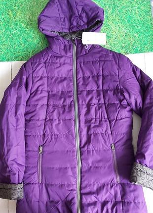 Новая двухстороння куртка,лео принт